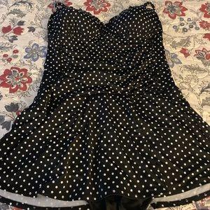 Polka dot pin up style bathing suit dress